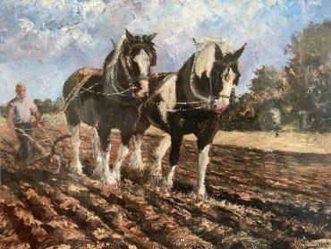 Heavy Horses by Irene Woods @CastlewoodDingle