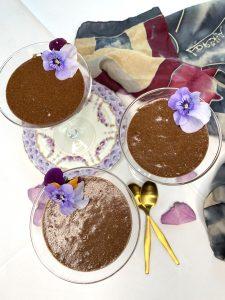 Chocolate orange and cardamom mousse