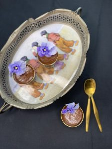 Chocolate. Orange and Cardamom Mousse cups